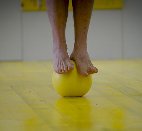 Barefoot Balance on Medball